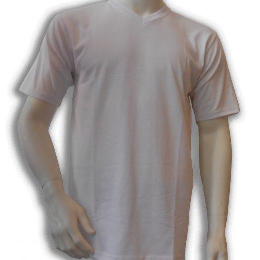 Bamboe T-shirt wit V-hals