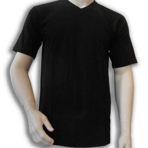 Bamboe T-shirt zwart V-hals
