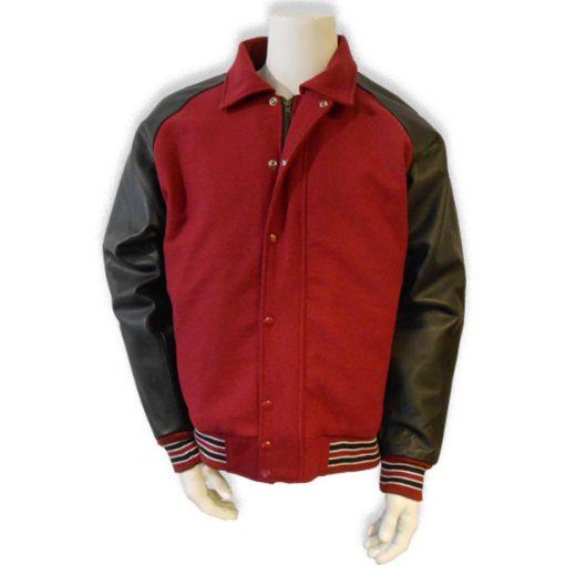 Donkerrood baseball jas baseball jas