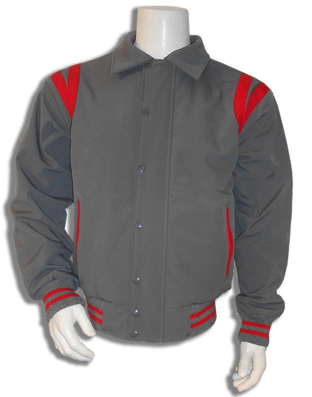 Grijs met rood all weather baseball jass