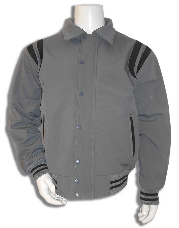 Grijs met zwart all weather baseball jas