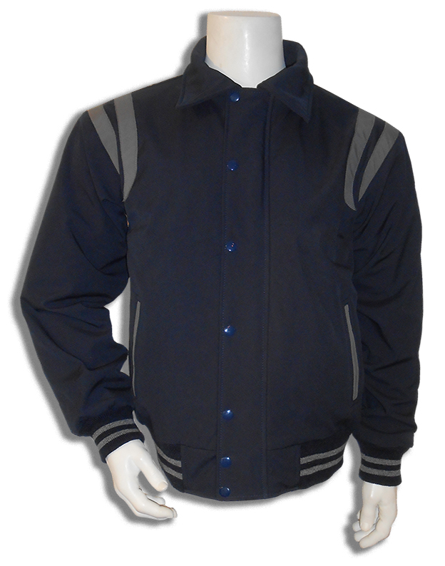 Donkerblauw met grijs all weather baseball jas