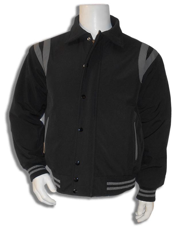 Zwart met grijs all weather baseball jas