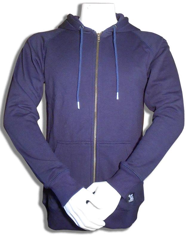 Bamboe hoodie vest donkerblauw